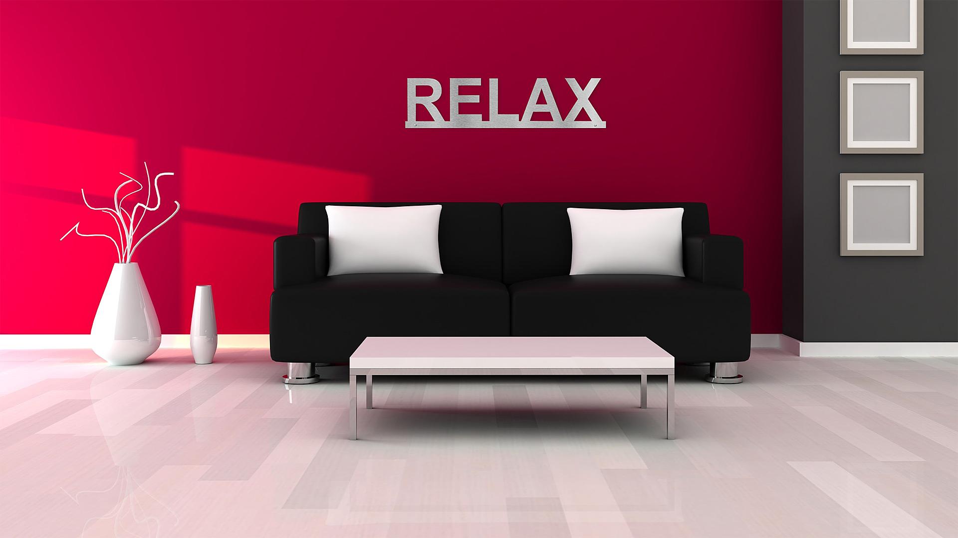 Relax wandtattoo aus edelstahl mit led ab 99 90 - Wandtattoo relax ...