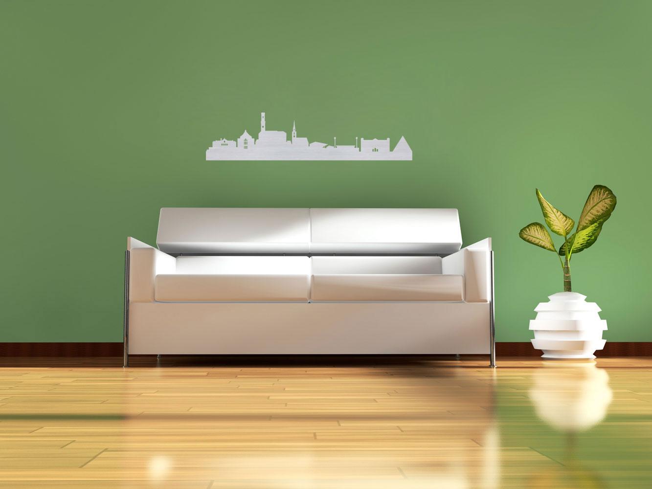 f rth wandtattoo aus edelstahl mit led ab 99 90. Black Bedroom Furniture Sets. Home Design Ideas